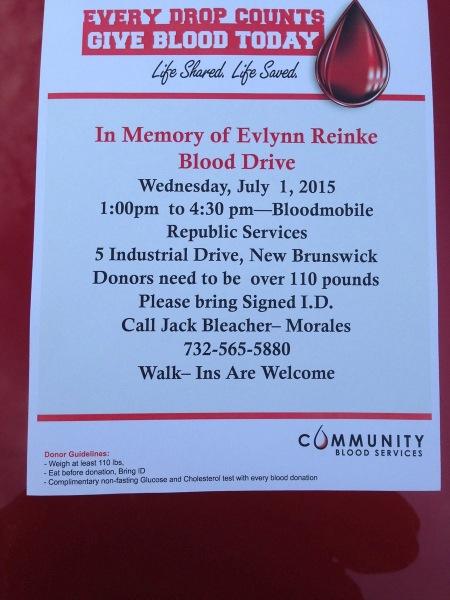 2015 blood drive