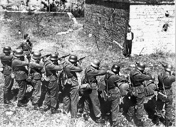 #29 Georges Blind, A Member Of The French Resistance, Smiling At A German Firing Squad, 1944